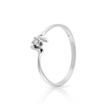 Anello solitario con diamante da 0,03 Ct. Prestige Gold Anelli oro diamanti KA42