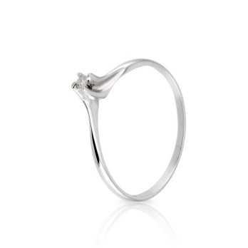 Anello solitario valentino con diamante da 0,03 Ct. Prestige Gold Anelli oro diamanti KA46