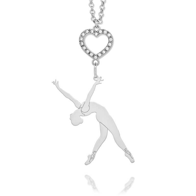 Collana ballerina in argento e pietre  Promozioni CN07B/CL