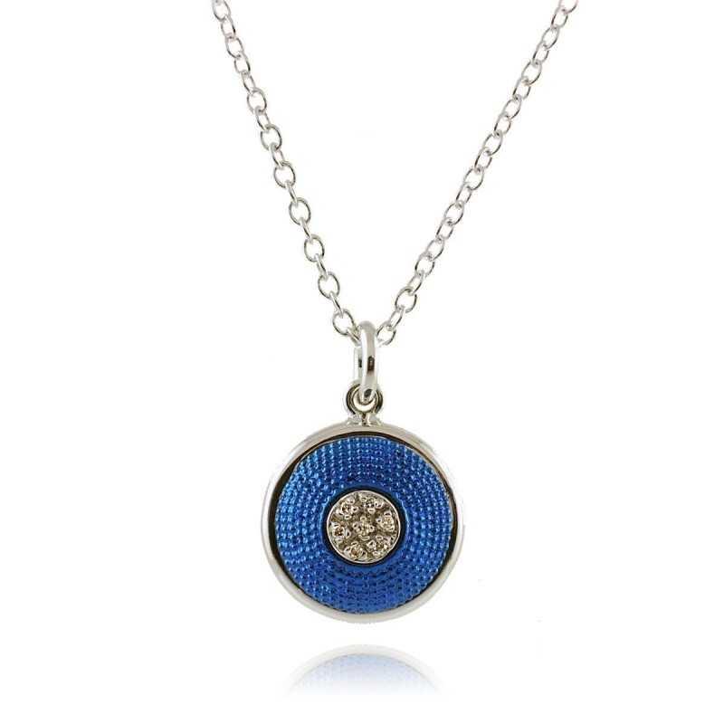 Collana puntoluce blu Osa jewels Promozioni P9806-06