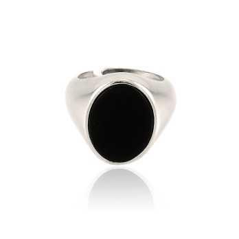 Anello da mignolo con pietra nera ovale Home 30,00€ product_reduction_percent