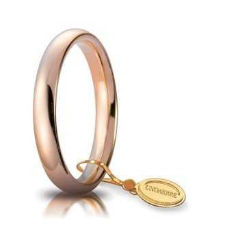 Fedi Anelli Nuziali Fede comoda unoaerre 35AFC1R rosa Unoaerre Italian jewellery