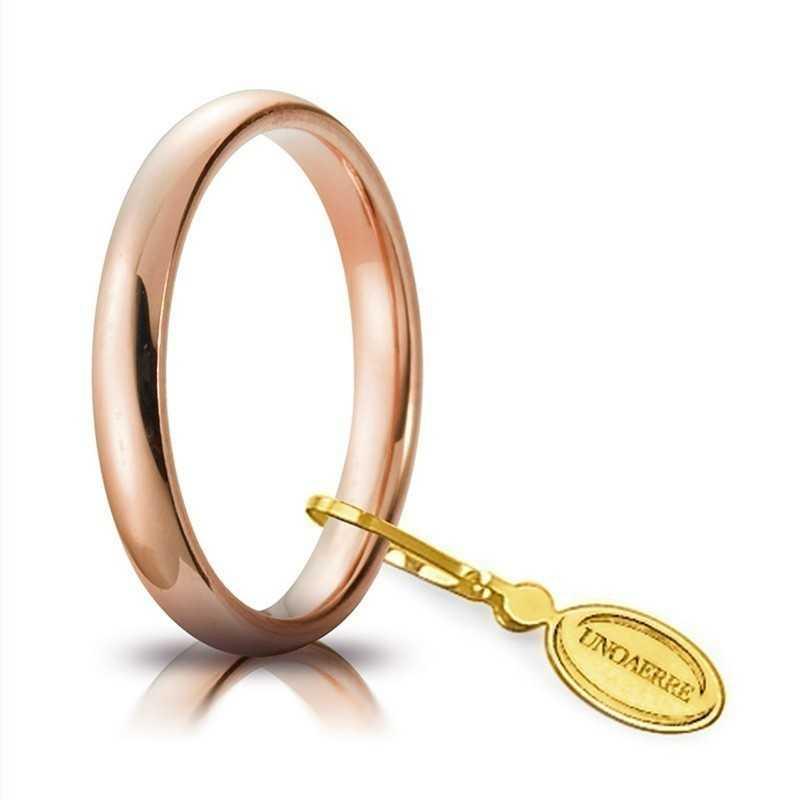 Fede comoda unoaerre 30AFC1R rosa Unoaerre Italian jewellery Fedi Comode 30AFC1R