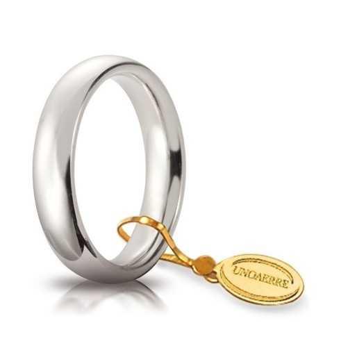 Fede comoda unoaerre 40AFC1B biancaUnoaerre Italian jewellery Fedi Anelli Nuziali 380,00€ 40AFC1B