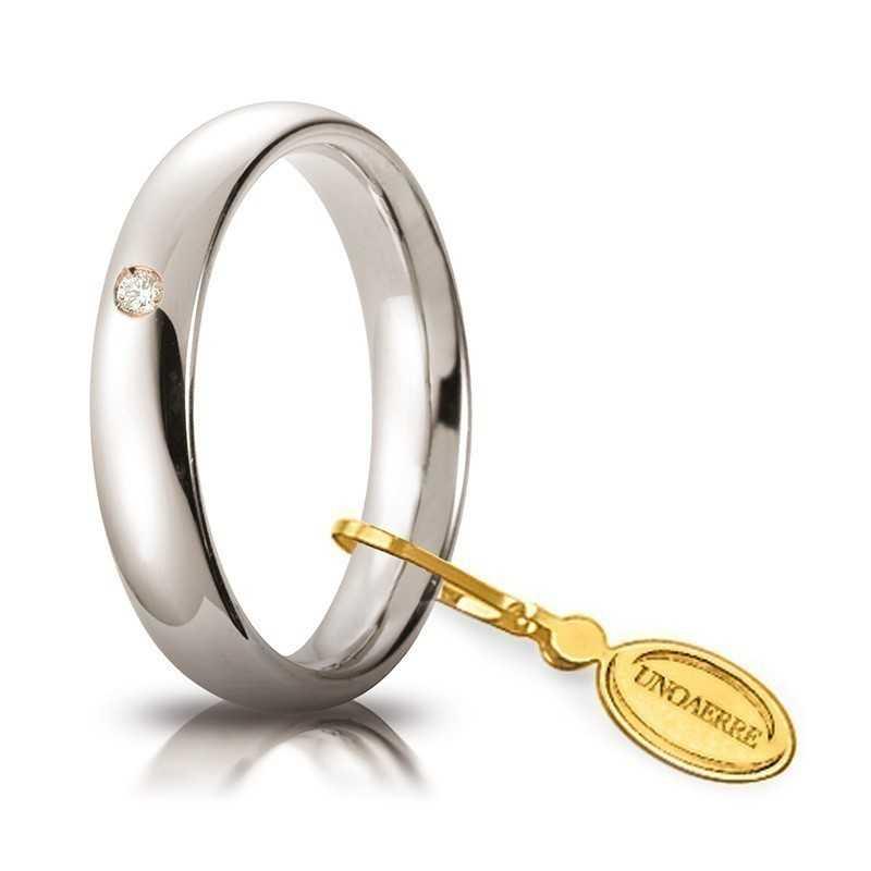 Fede comoda unoaerre 40AFC1/001 bianca Unoaerre Italian jewellery Fedi Comode 40AFC1/001