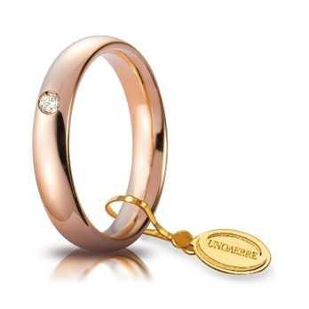 Fedi Anelli Nuziali Fede comoda unoaerre 40AFC1/015 rosa Unoaerre Italian jewellery