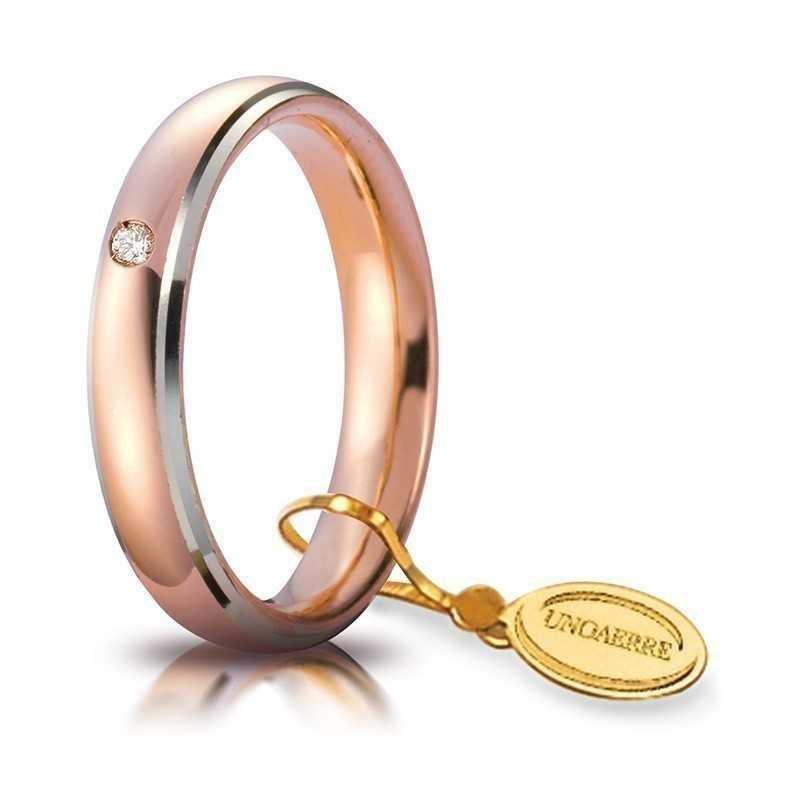 Fede comoda unoaerre 40AFC1/113 bicolore Unoaerre Italian jewellery Fedi Comode 40AFC1/0113