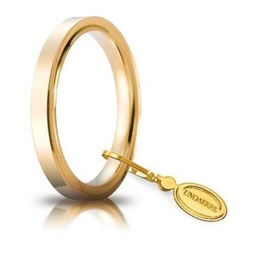 Fede Cerchi di Luce comoda unoaerre 25AFC2G Unoaerre Italian jewellery Fedi cerchi di luce 25AFC2G