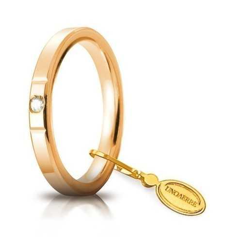 Fede Cerchi di Luce comoda unoaerre 25AFC2/001 Unoaerre Italian jewellery Fedi cerchi di luce 25AFC2/001G