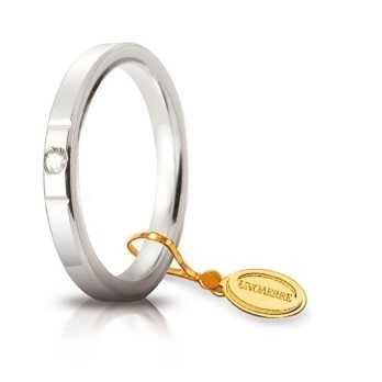 Fede Cerchi di Luce comoda unoaerre 25AFC2/001B Unoaerre Italian jewellery Fedi cerchi di luce 25AFC2/001B