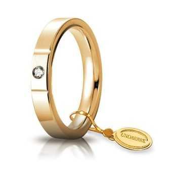 Fedi Anelli Nuziali Fede Cerchi di Luce comoda unoaerre 35AFC2/001 Unoaerre Italian jewellery
