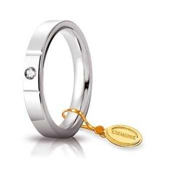 Fede Cerchi di Luce comoda unoaerre 35AFC2/001B Unoaerre Italian jewellery Fedi cerchi di luce 35AFC2/001B