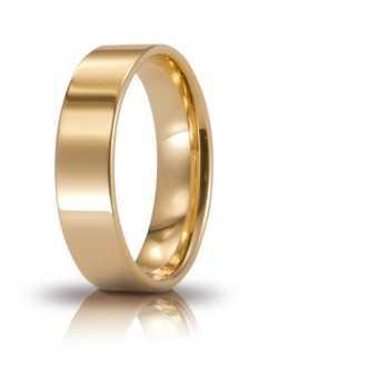 Fede Cerchi di Luce comoda unoaerre 50AFC111 Unoaerre Italian jewellery Fedi cerchi di luce 50AFC111G