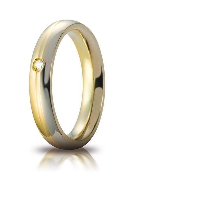 Fede Eclissi comoda unoaerre 70AFC283/001Unoaerre Italian jewellery Fedi cerchi di luce 560,00€ 70AFC283/001