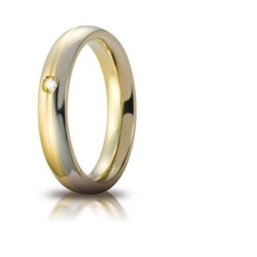 Fede Eclissi comoda unoaerre 70AFC283/001 Unoaerre Italian jewellery Fedi cerchi di luce 70AFC283/001