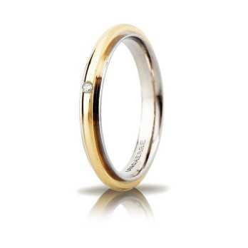 Fede Unoaerre Andromeda Slim con diamante Unoaerre Italian jewellery Fedi Brillanti Promesse 50AFC281/001