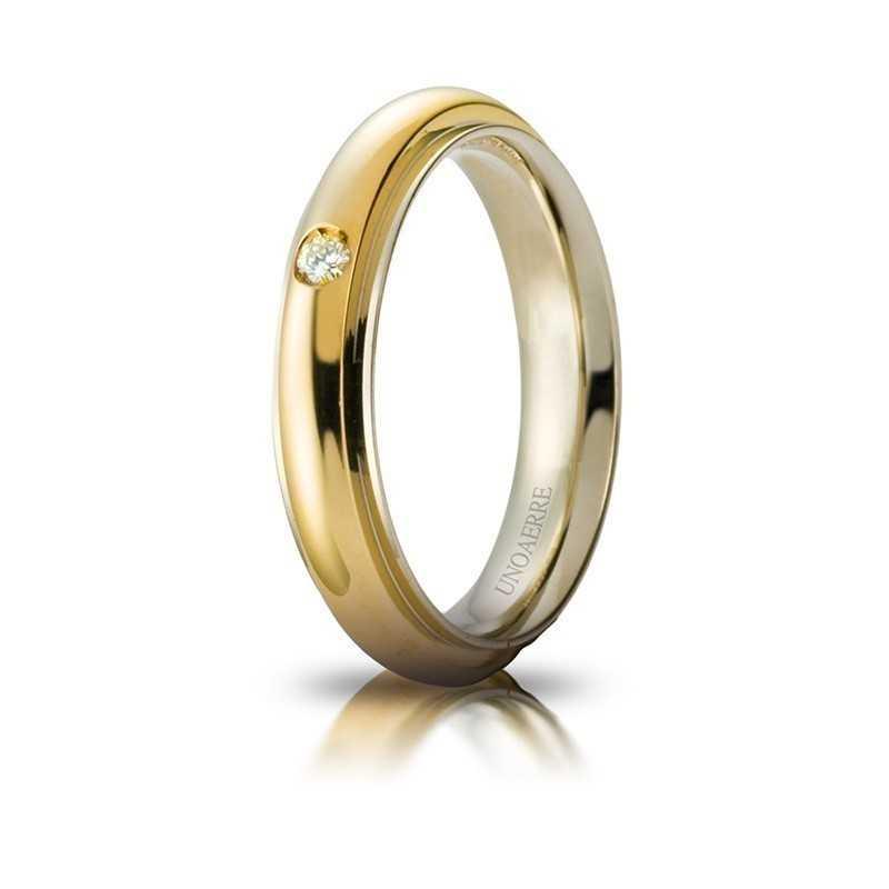 Fede Unoaerre Andromeda con diamante Unoaerre Italian jewellery Fedi Brillanti Promesse 70AFC281/001