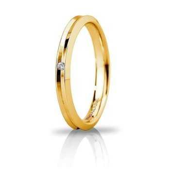 Fede Unoaerre Corona slim con diamante Unoaerre Italian jewellery Fedi Brillanti Promesse 30AFC278/001G