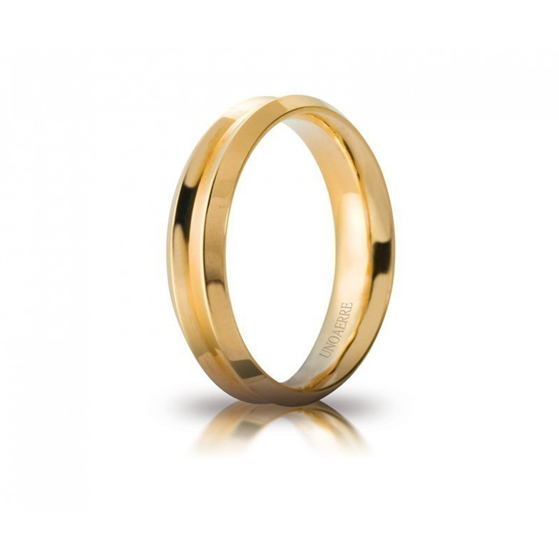 Fede Unoaerre Corona gialla Unoaerre Italian jewellery Fedi Brillanti Promesse 40AFC278G