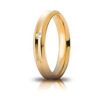 Fede Unoaerre Corona con diamante Unoaerre Italian jewellery Fedi Brillanti Promesse 40AFC278/001G