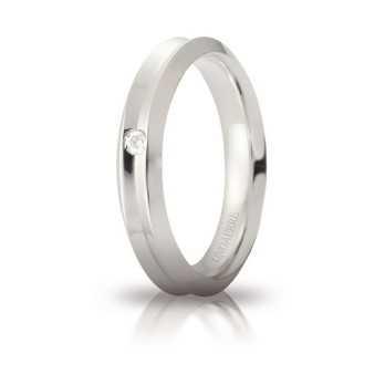 Fede Unoaerre Corona con diamante Unoaerre Italian jewellery Fedi Brillanti Promesse 40AFC278/001B