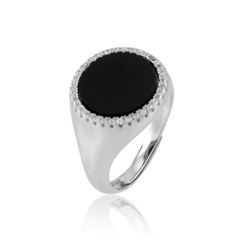 Pietra nera anello