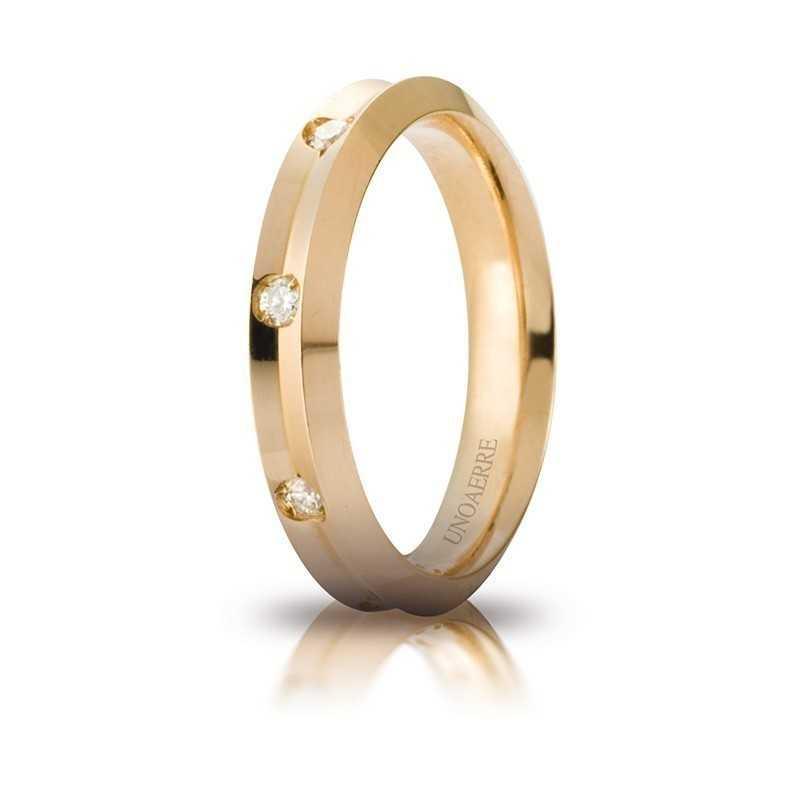 Fede Unoaerre Corona con 8 diamanti Unoaerre Italian jewellery Fedi Brillanti Promesse 40AFC278/008G