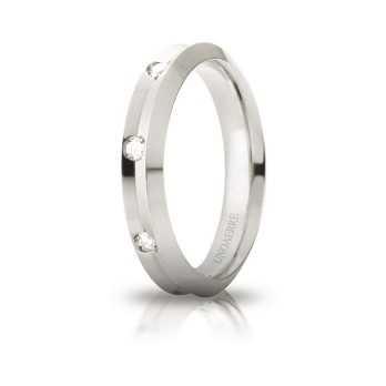 Fede Unoaerre Corona con 8 diamanti Unoaerre Italian jewellery Fedi Brillanti Promesse 40AFC278/008B