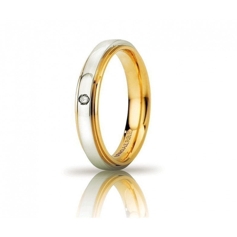 Fede Unoaerre Cassiopea slim con diamanteUnoaerre Italian jewellery Fedi Anelli Nuziali 300,00€ 50AFC282/001