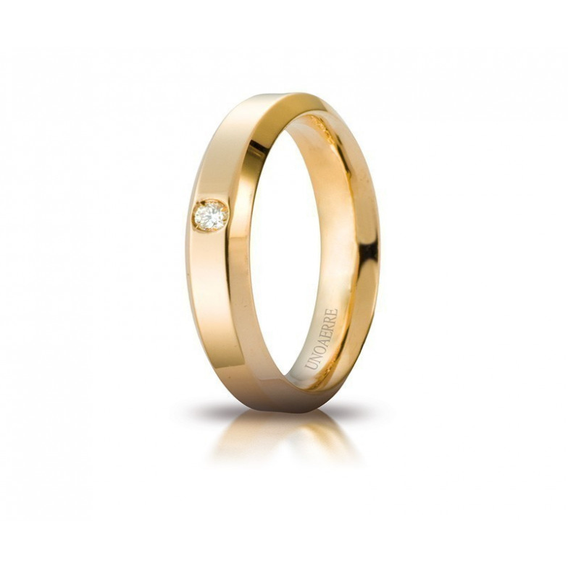 Fede Unoaerre Hydra con diamante Unoaerre Italian jewellery Fedi Brillanti Promesse 40AFC280/001G