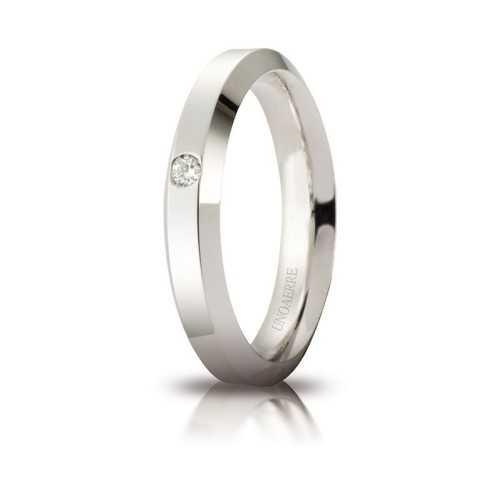 Fede Unoaerre Hydra con diamante Unoaerre Italian jewellery Fedi Brillanti Promesse 40AFC280/001B