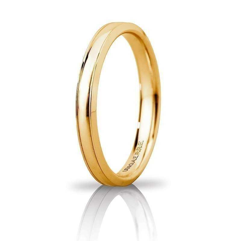 Fede Unoaerre Orion slimUnoaerre Italian jewellery Fedi Anelli Nuziali 245,00€ 30AFC279G