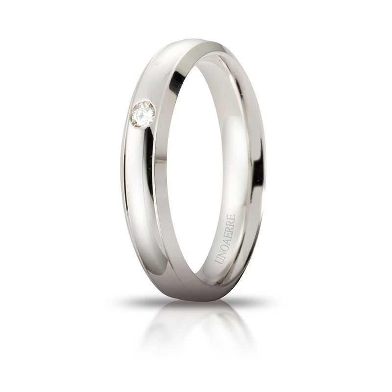 Fede Unoaerre Orion con diamante Unoaerre Italian jewellery Fedi Brillanti Promesse 40AFC279/001B