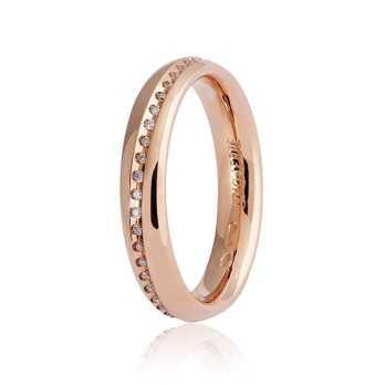 Fedi Anelli Nuziali Fede Unoaerre 9.0 Infinito con diamanti a giro Unoaerre Italian jewellery