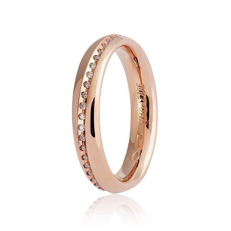 Fede Unoaerre 9.0 Infinito con diamanti a giroUnoaerre Italian jewellery Fedi Anelli Nuziali 860,00€ 040AFC005/0450R