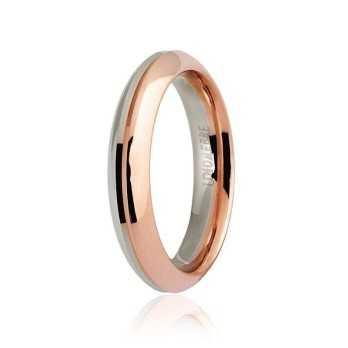 Fede Unoaerre 9.0 Eterna oro bianco e rosa  Fedi collezione 9.0 070AFC290