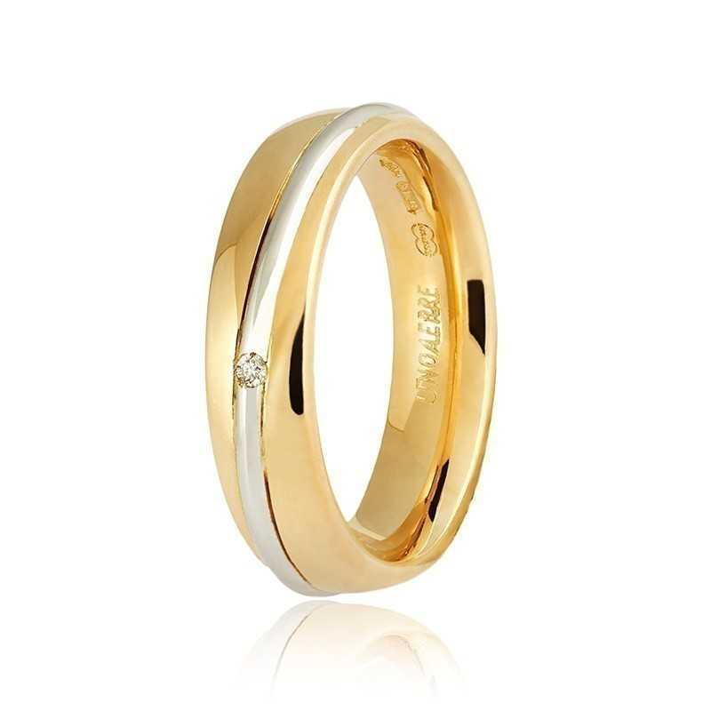 Fede Unoaerre 9.0 Saturno con diamanteUnoaerre Italian jewellery Fedi collezione 9.0 670,00€ 050AFC053/0010G