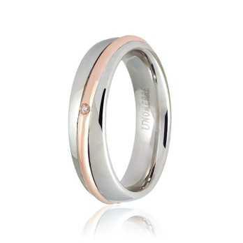 Fedi Anelli Nuziali Fede Unoaerre 9.0 Saturno con diamante Unoaerre Italian jewellery