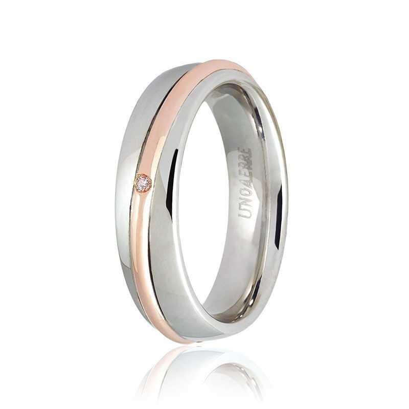Fede Unoaerre 9.0 Saturno con diamante Unoaerre Italian jewellery Fedi collezione 9.0 050AFC053/0010B