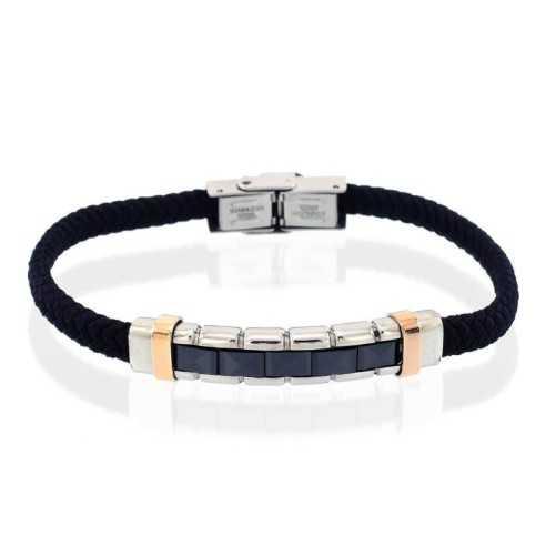 Bracciale acciaio e ceramica corda neraPuca Jewels Bracciali Uomo 25,00€ PJ-AC10BR104