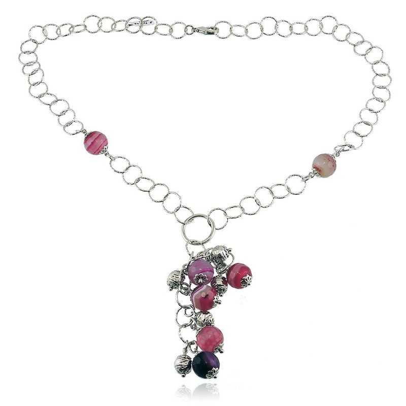 Collana a catena charms e pietre  Collane Donna ITJ-CL109