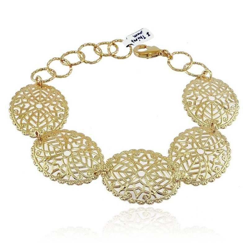 Bracciale con ovali traforati I Think Jewels Bracciali Donna ITJ-BR107