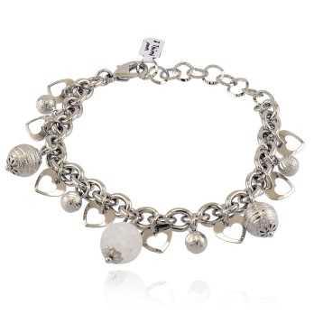 Bracciale con ciondoli e pietra bianca I Think Jewels Bracciali Donna ITJ-BR100