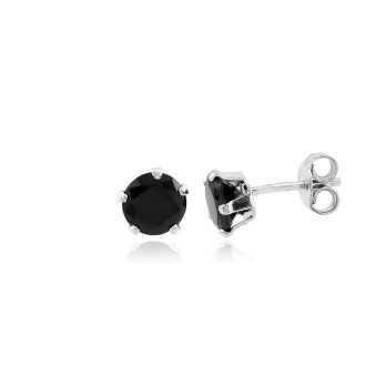 Orecchini Uomo Orecchini con pietra nera 6 mm Puca Jewels