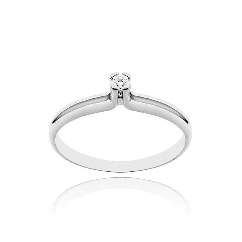 Anello solitario in argento con zircone Ct. 0,05 Zoppi Gioielli bijoux Anelli Donna CM001AG