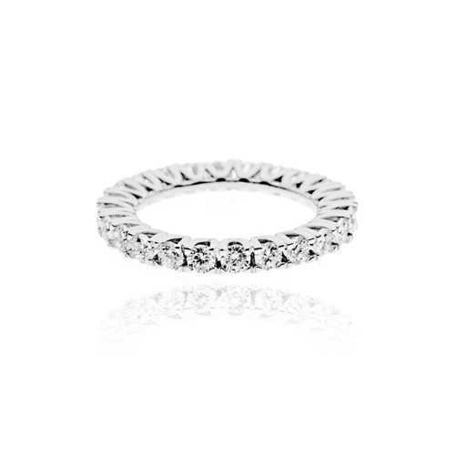 Anello Veretta con diamanti a giro