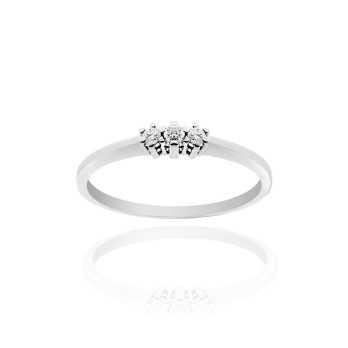 Anello trilogy argento con zirconi Ct. 0.09 Zoppi Gioielli bijoux Anelli Donna CM063AG