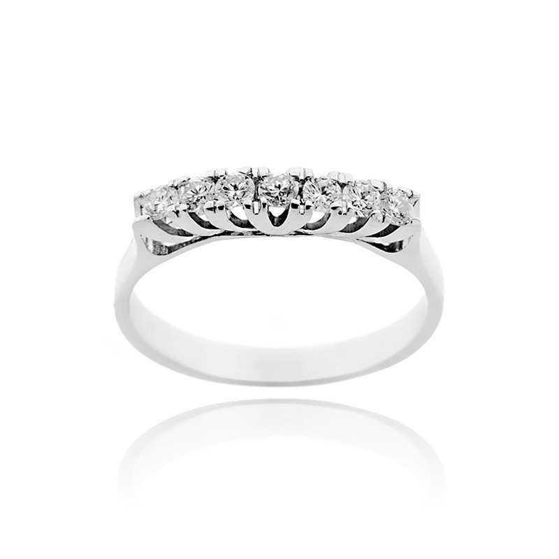 Anello riviera con 7 diamanti Ct. 0,35 Anelli oro diamanti 710,00€ product_reduction_percent