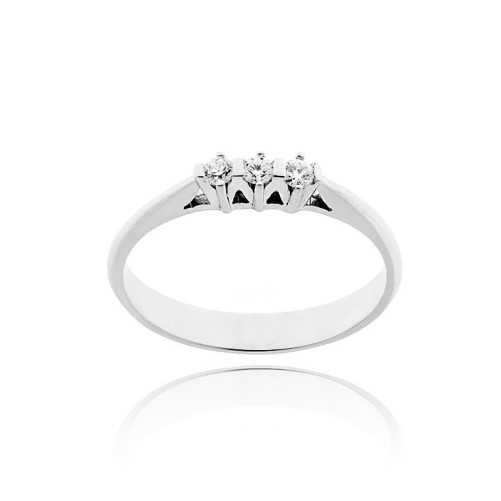 Anello trilogy in argento e zirconi Ct. 0,12 Zoppi Gioielli bijoux Anelli Donna CM048AG