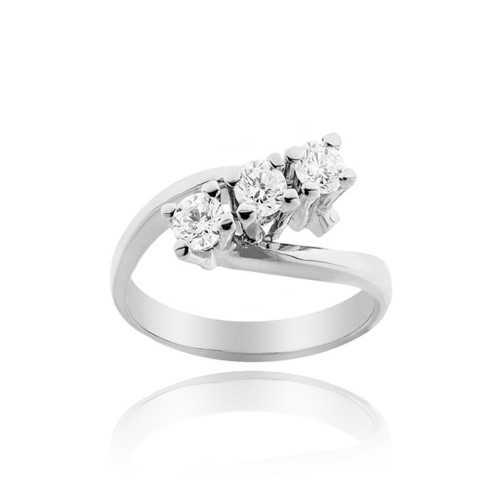 Anello trilogy con diamanti Ct. 0,60